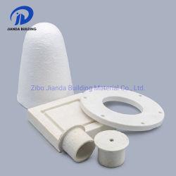 Refractarios de alta temperatura de fibra cerámica aislados Hat toque el enchufe de la industria de aluminio de fundición de metal cono