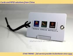 125KHz/13.56MHz 중국어 칩이 탑재된 PVC RFID 수하물 태그