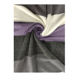 主要なサイクルのYarn-Dyed縞タケファブリック衣服のための単一のジャージー高く抗張編むファブリック