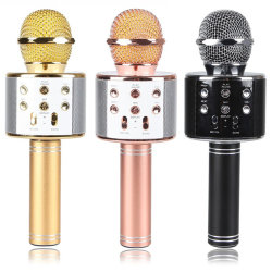 Samrt Phoneのための新しいPortable Bluetooth Wireless Ws858 Stereo KTV Karaoke Microphone Support TF Card