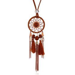 Neueste Halskette Aus Leder Aus Wildleder Mit Kristall-Quasten Und Wassertropfenanhänger Für Damen