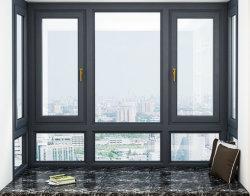 A estrutura de metal de alumínio Casement janelas com vidro duplo para os Apartamentos