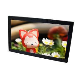 사업 호텔을%s 선수 통신망 영상 미디어 플레이어 텔레비젼을 광고하는 높은 정의 18.5 인치 LCD 스크린 테이블