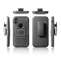 Het met rubber bekleede Schokbestendige TPU Geval van PC Kickstand voor iPhone X