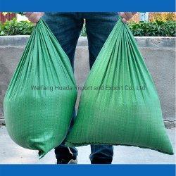 低の卸売は緑PPによって編まれた肥料包装袋をリサイクルした