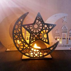 Ramadán Eid Mubarak para decorar la casa Luna Velas LED Colgante colgante de la placa de madera El Islam los musulmanes de la boda la decoración de eventos