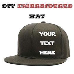 도매 100% 코튼 자수 조절 가능한 사용자 정의 로고 평평한 브림 이프 야구 모자