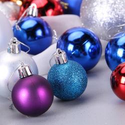 Best-seller populares decorando brilhantes Feliz Natal/Xmas bolas de vidro