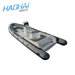De 25 pies de 7,6M China Deporte Potrol Alquiler inflables de pasajeros de barco de fibra de vidrio con dos motores