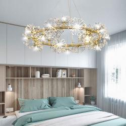 花弁の円の水晶シャンデリアの寝室の食堂のペンダント灯ライト