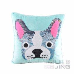 Fashion mignon chien Sequin oreiller moelleux