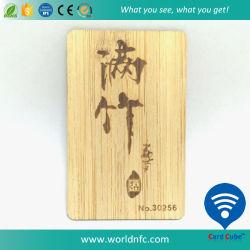 RFIDによってカスタマイズされるタケ木の刻まれた名刺
