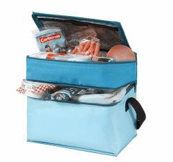 ポリエステル大きい容量のBbqsのキャンプを採取するための携帯用お弁当箱2コンパートメントクーラー袋