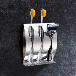 De Muur van de Houder van de Tandenborstel van het roestvrij staal B108 zette Creatief Gebruik 2 Gat 3hole van de Badkamers op