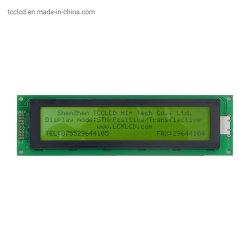 18 سن 40X4 (A) واجهة متوازية 8 بت باللون الأخضر الأصفر وحدة LCD للحرف