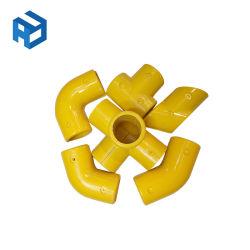 Los conectores de montaje del tubo de fibra de vidrio de montaje del tubo de fibra de vidrio PRFV FRP los tubos y accesorios