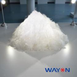 100% de color blanco puro PTFE Proveedor de fibras discontinuas de la materia prima de la tela del filtro de polvo
