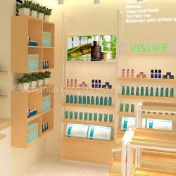 Quiosque de cosméticos de perfumes de luxo madeira Exibir estandes para contadores
