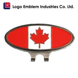 Personalizar el oro de metal niquelado Soft enamel de latón pintada de Golf de aleación de zinc Poker Tapa de Chip Hat Clip con marcador de bola de golf juegos de regalo Accesorios
