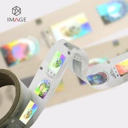 Custom 3D hot stamping holograma a lâmina com registo de marca