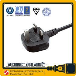 Соединенного королевства Англии Bsi утверждения BS 1363-1 шнур питания переменного тока Литой штекер кабеля с предохранителем