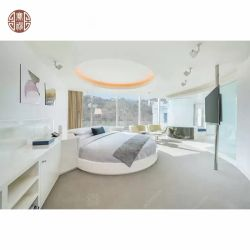 Mobilia acrilica di legno comoda della camera da letto della doppia base