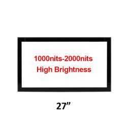 27 بوصة، درجة سطوع عالية في الخارج 1000 شمعة في الجدار، حامل VESA شاشة لمس داخلية Mount Open Frame مع شاشة TFT كاملة العرض شاشة LCD آلة البيع بالعملة