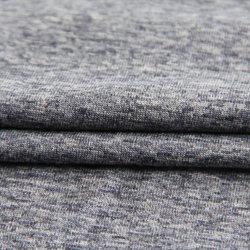 L'étirement personnalisé mélangés de nylon 50%38%12%spandex polyester tricotage de trame ordinaire avec des écoulements pour vêtement/Sportswear/usure de Yoga/Leggings