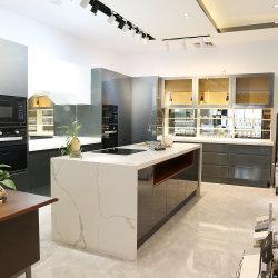 01 Casa Moderna de laca brillante armarios muebles de hogar de la Isla de Piedra Natural
