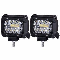 Indicatore luminoso 4X4 del lavoro della lampada 60W LED del lavoro degli accessori LED 4X4 LED del camion fuori dall'indicatore luminoso della strada per l'indicatore luminoso di nebbia dell'automobile LED 4 pollici