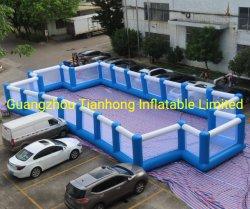 15x8m PVC inflables gigantes de jabón de Arena de fútbol campo de fútbol inflables cancha de fútbol campo de fútbol