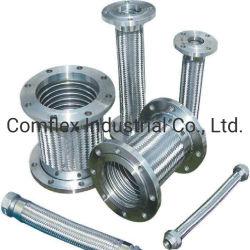 Populares de la manguera flexible de acero inoxidable con brida, tubo de acero inoxidable trenzado*