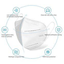 الحماية من الفيروسات القابلة للطي KN 95 Mask Anti Virus 5 Ply Filter قناع الوجه بالجسيمات زمالات (KN95)