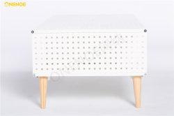 Onenoe Nieuw ontwerp eenvoudig modern meubilair Metaal Mesh Eindtafel Met stevige houten voet