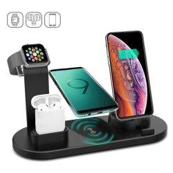 10W быстрое беспроводное зарядное устройство док-станции для быстрой зарядки iPhone для Apple Смотрите 2 3 4 для Airpods для Sam зарядное устройство беспроводной связи