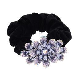 Großhandelskristallrhinestone-Hochzeits-Haar-Zubehör-Frauen-Haar-Ring