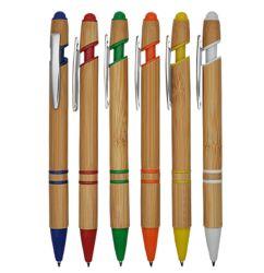 Recicle a caneta de esferas com material de bambu para Oferta Promocional