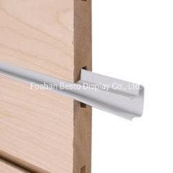 Herstellung MDF Slatwall Paneele Kunststoff-Einsätze Display für Kleidung Shop / Athletic Geschäft/Schuhgeschäft