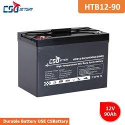 Csbattery 12V90ah Sistemas de Alarme Gel Bateria solar para Portable-Power/Solar-Energy-armazenamento/Luz