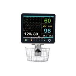 Operationsinstrument Multi Parameter Portable mit EKG für Krankenhaus Osen 15 Zoll 6 PARA Trancuder Patientenmonitor