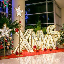 Большие 3D Xmas письмо огни Рождества торгового центра украшения