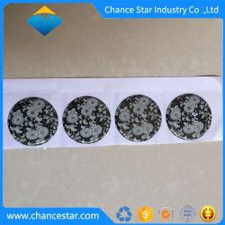 Diseño de marca personalizada domo transparente pegatinas de la etiqueta de resina epoxi