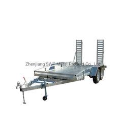 Alxe tándem Tráiler 16X6 coche remolque rampa de carga ajustable (SWT-CT126)