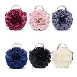 Nouvelles de l'automne hiver Fleur dentelle ronde la main de l'épaule Sac de soirée mesdames Handbag Fashion Designer du marché de gros femme de luxe pour les femmes de la marque de soirée