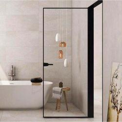 Nuevo wc Aluminio Aluminio Puertas de Interior de la ventana de cristal Casa de la puerta del baño Precio