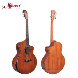 Feste oberste Mahagoniakustikgitarre der Alieenmusic Qualitäts-40 '' (AFM77AC)