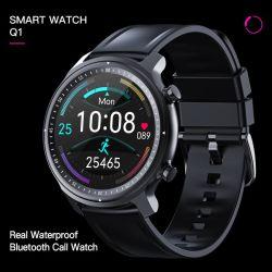 Smart Watch Q1 rotondo di alta qualità con coperchio in lega Bt Call Real Waterproof Fitness Tracker Guarda bracciale intelligente