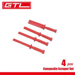 Herramientas de auto raspador compuesto de plástico de 4 PCS Conjunto de herramientas
