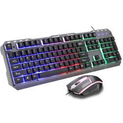 104 キー USB 有線ゲーム用キーボード ( ラップトップまたはコンピュータ用 - テンキー付きフルサイズキーボード