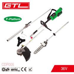 Bateria de lítio 36V 4 em 1 a Função de várias ferramentas de jardim, Gasolina Aparador de relva, moto-serras, aparador de hedge, Cortador de Escova (CDP005)